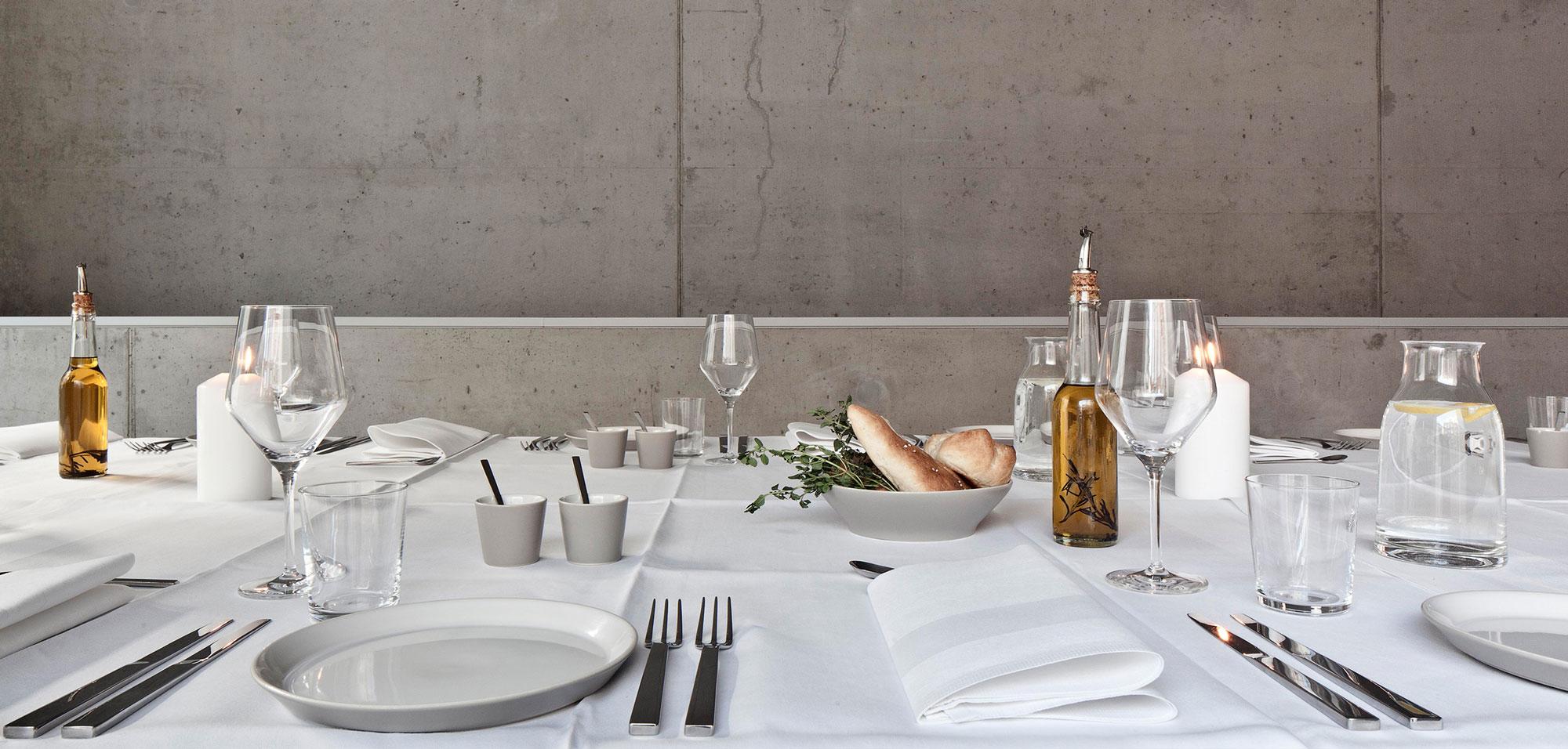 Kantine Gedeckter Tisch